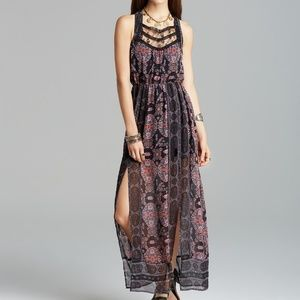 Free People Moroccan Printed Maxi Dress 8 M